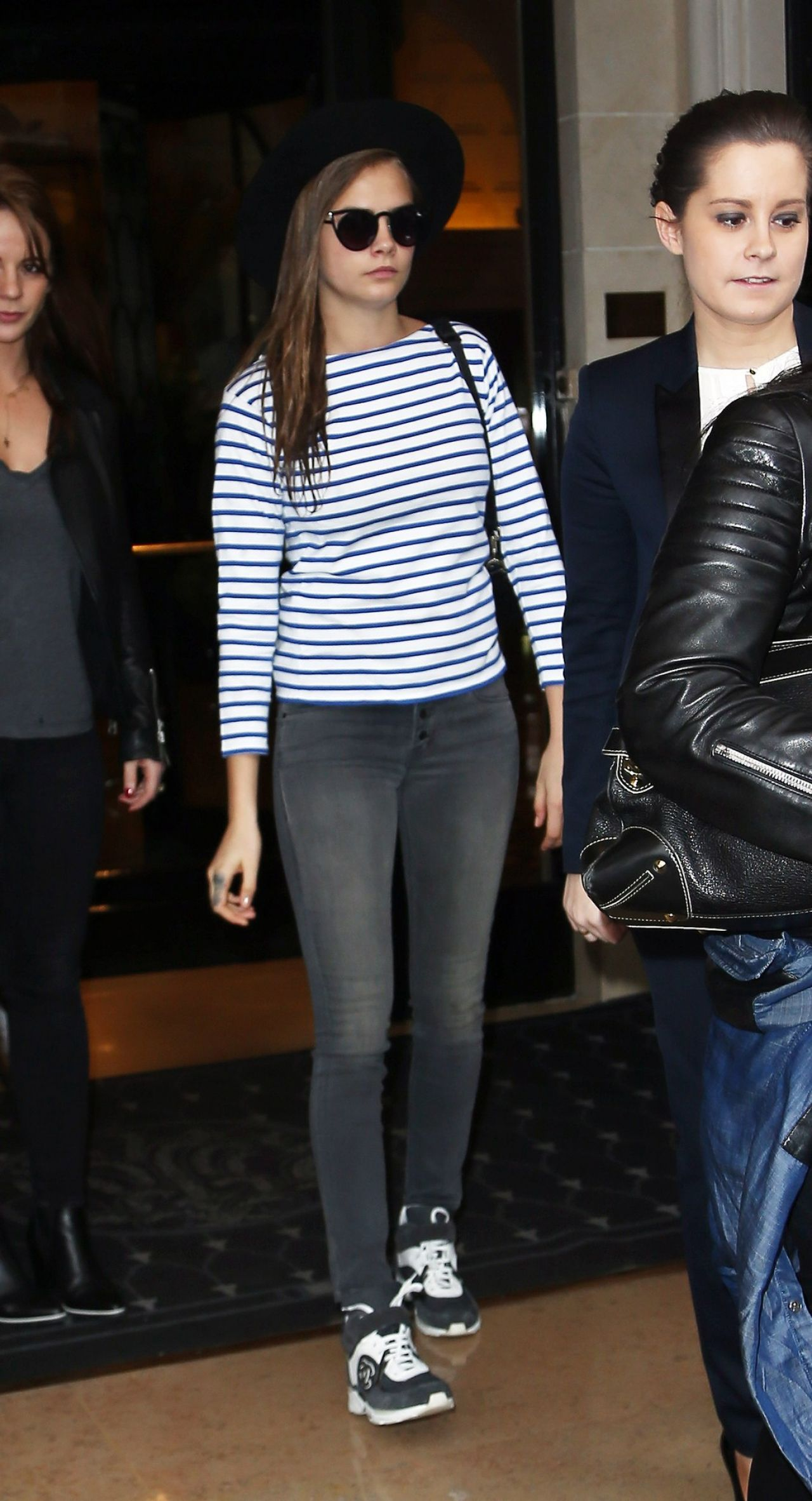 Cara Delevingne Street Style - Leaving a Hotel in Paris, March 2015