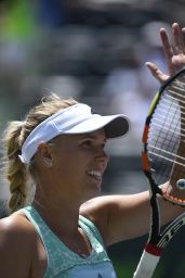Caroline Wozniacki – 2015 Miami Open Tennis Tournament in Key Biscayne – 1st Round