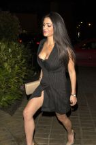 Casey Batchelor in a Blazer Dress - Heading to the Bonded By Blood 2 Wrap Party at Sugar Hut