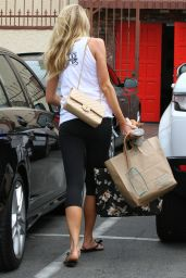Charlotte McKinney in Leggings - DWTS Rehearsal Arrival, March 2015
