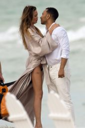 Chrissy Teigen - Photoshoot At Miami Beach, March 2015