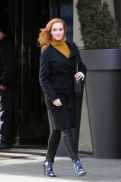 Christina Hendricks Street Style – Out in New York City, March 2015