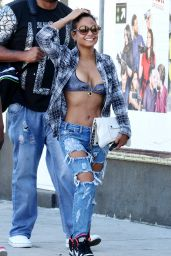 Christina Milian in Ripped Jeans - Out in Los Angeles, March 2015