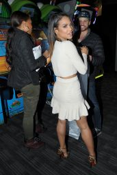 Christina Milian Night Out Style - at Dave and Busters in Hollywood, March 2015