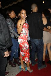 Christina Milian Night Out Style - Outside Warwick Nightclub in Hollywood, March 2015