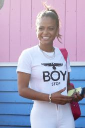 Christina Milian - Outside a Pink Taco in Los Angeles, March 2015