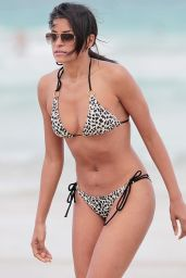 Claudia Jordan Bikini Candids, Miami, March 2015