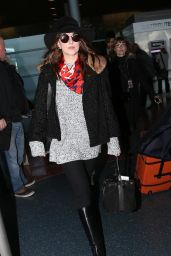 Dakota Johnson at Charles de Gaulle Airport in France, March 2015
