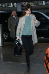 Dakota Johnson - at JFK International Airport in New York City, March 2015