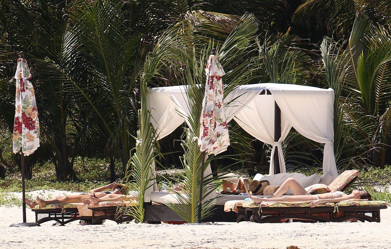 Dakota Johnson Bikini Candids On The Beach In Cancun