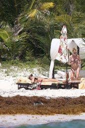 Dakota Johnson Bikini Candids - On the Beach in Cancun, March 2015