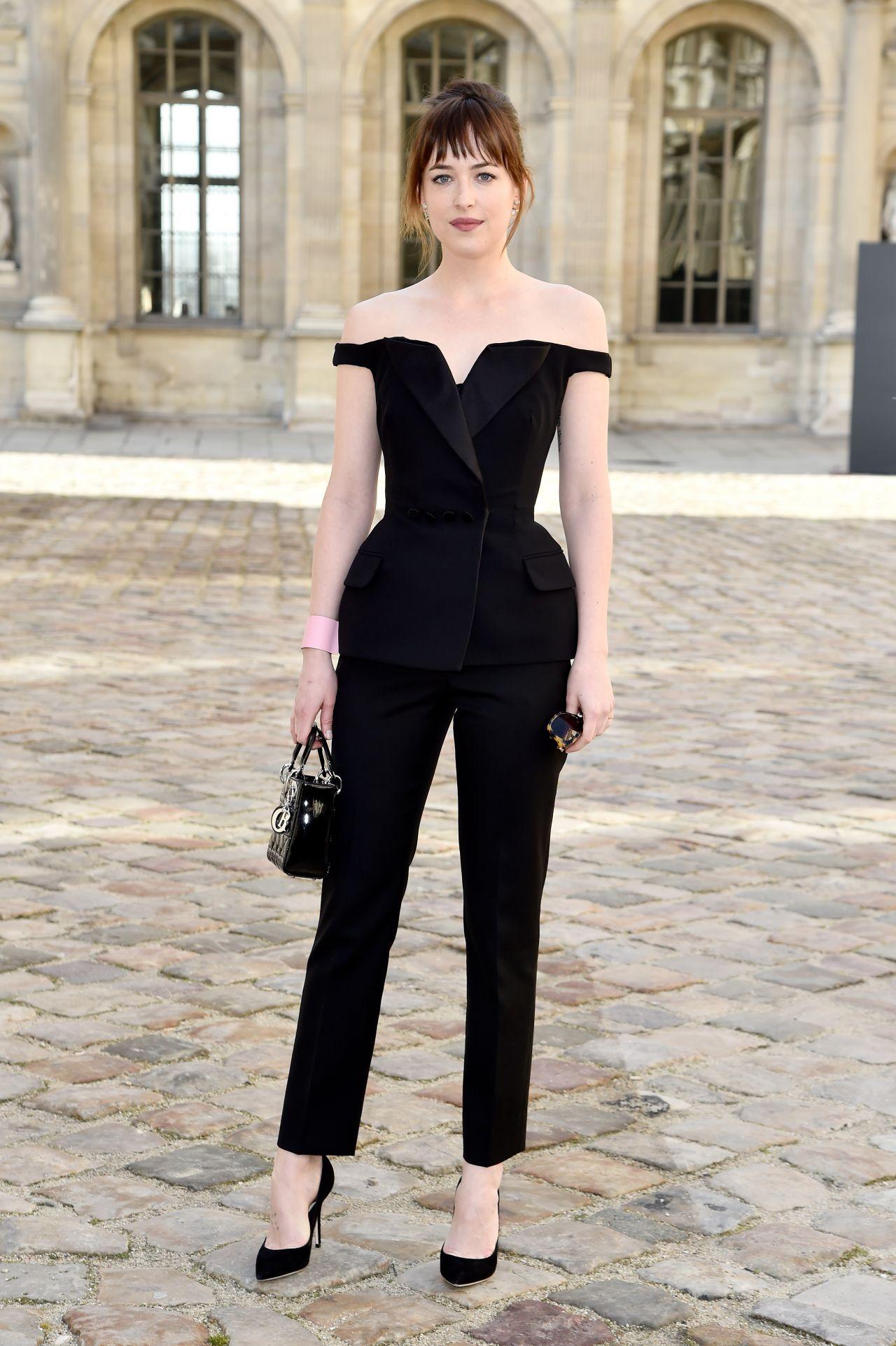 Dakota Johnson Style Christian Dior Fashion Show In Paris March 2015