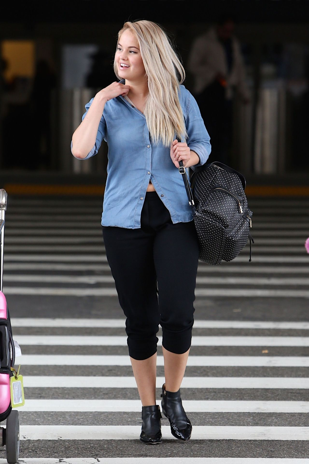 Debby Ryan - at LAX Airport in Los Angeles, March 2015
