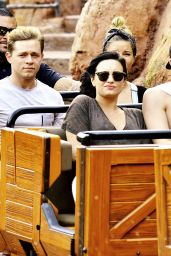Demi Lovato at Disneyland in Anaheim, March 2015