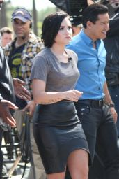 Demi Lovato on the Set of