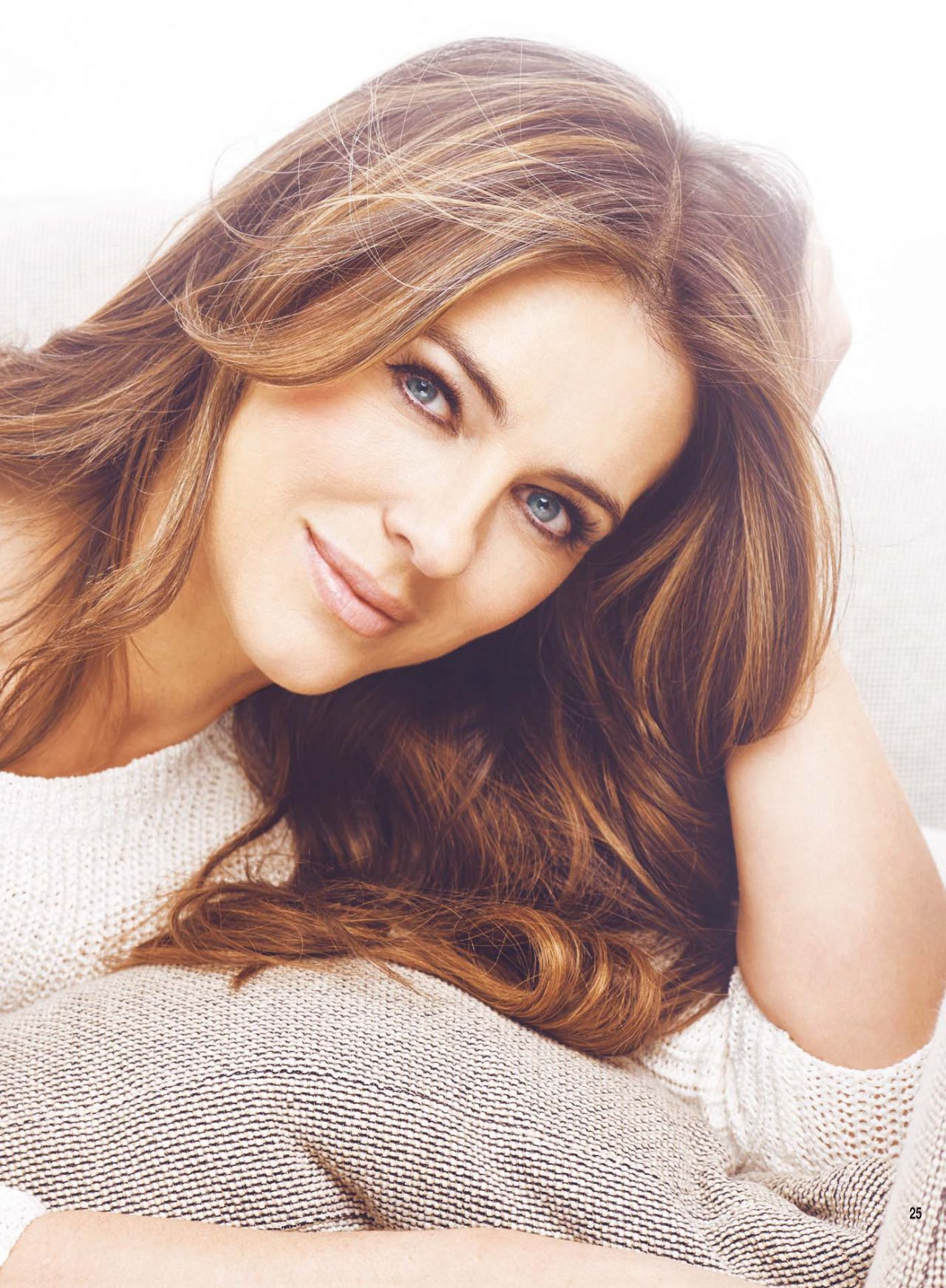 Elizabeth Hurley - Hello Magazine (UK) March 2015 Issue