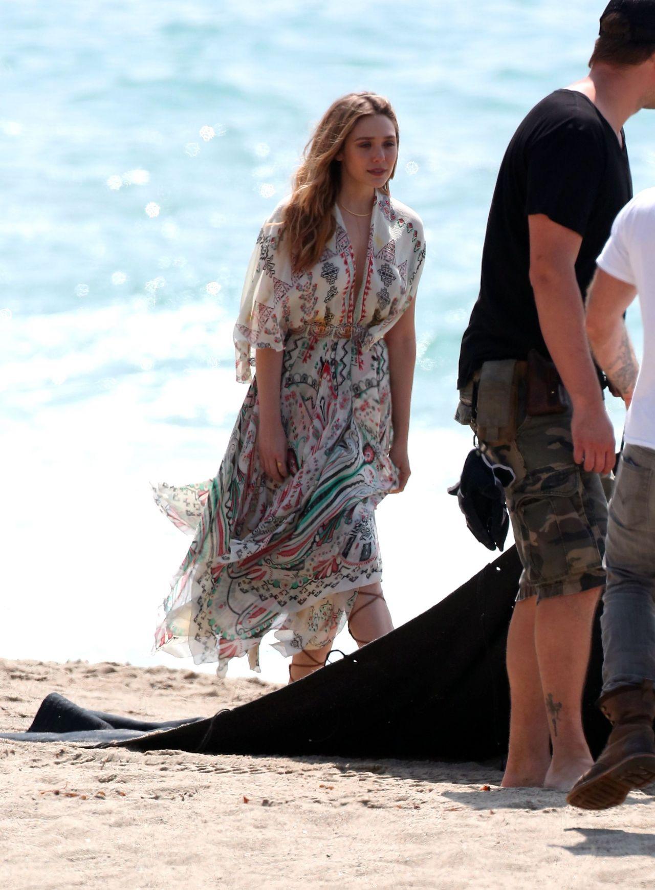 Elizabeth Olsen Photoshoot At The Beach In Malibu March