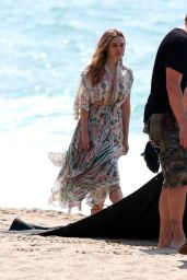 Elizabeth Olsen - Photoshoot at the Beach in Malibu. March 2015