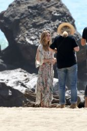 Elizabeth Olsen - Photoshoot at the Beach in Malibu. March 2015