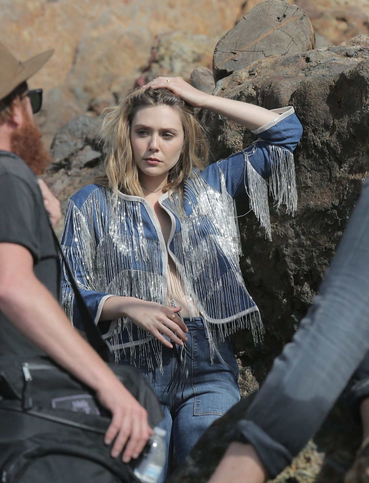 Elizabeth Olsen Photoshoot Beach In Malibu March 2015