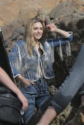 Elizabeth Olsen Photoshoot - Beach in Malibu, March 2015