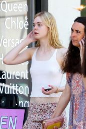 Elle Fanning - Shopping With Friends in Studio City, March 2015a