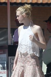 Elle Fanning Street Style - Out in Los Angeles, March 2015