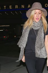Ellie Goulding Street Style - at LAX Airport in Los Angeles, March 2015