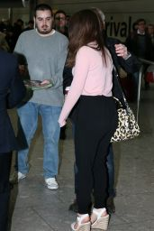 Emilia Clarke Casual Style - at Heathrow Airport in London, March 2015