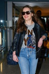 Emilia Clarke in Jeans at Heathrow Airport in London, March 2015