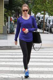 Emily Blunt - Leaving the Gym in Los Angeles - March 2015