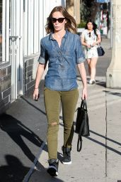 Emily Blunt Street Style - Shopping in West Hollywood - March 2015