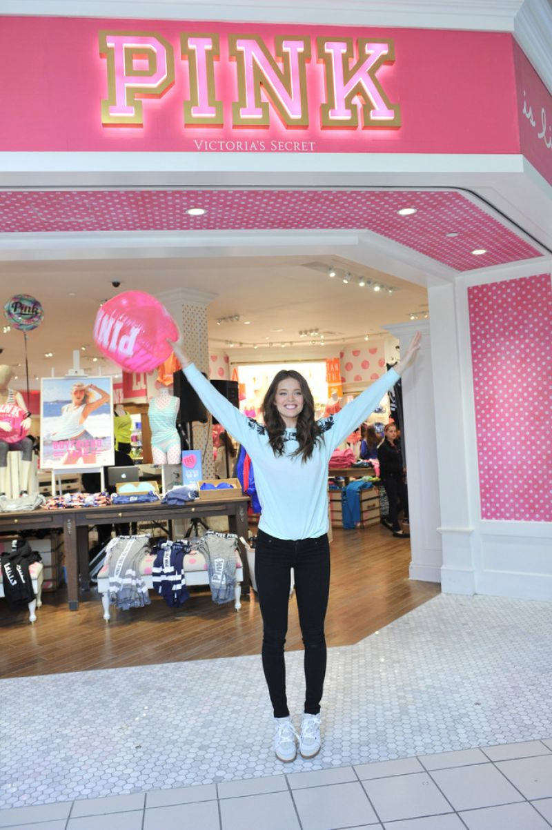 cf31187deb6 Emily Didonato – Victoria s Secret PINK Limited Release Varsity Crew Launch  in Buffalo