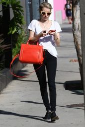Emma Roberts Casual Style - Out Shopping In West Hollywood, March 2015
