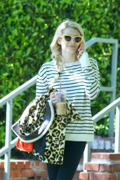 Emma Roberts - Leaving Her Home in Los Angeles, March 2015