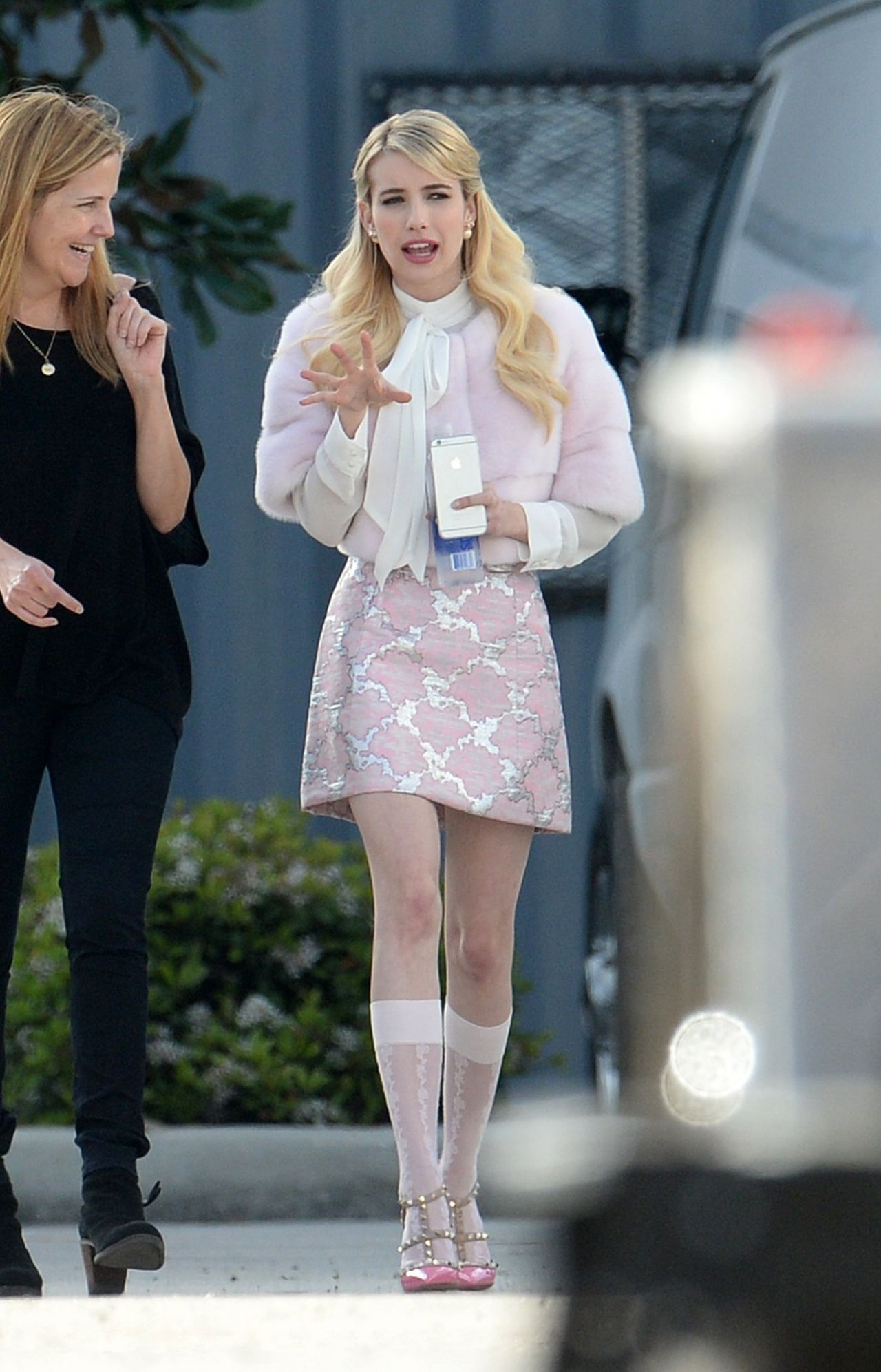 Emma Roberts Scream Queens Set Photos March 2015