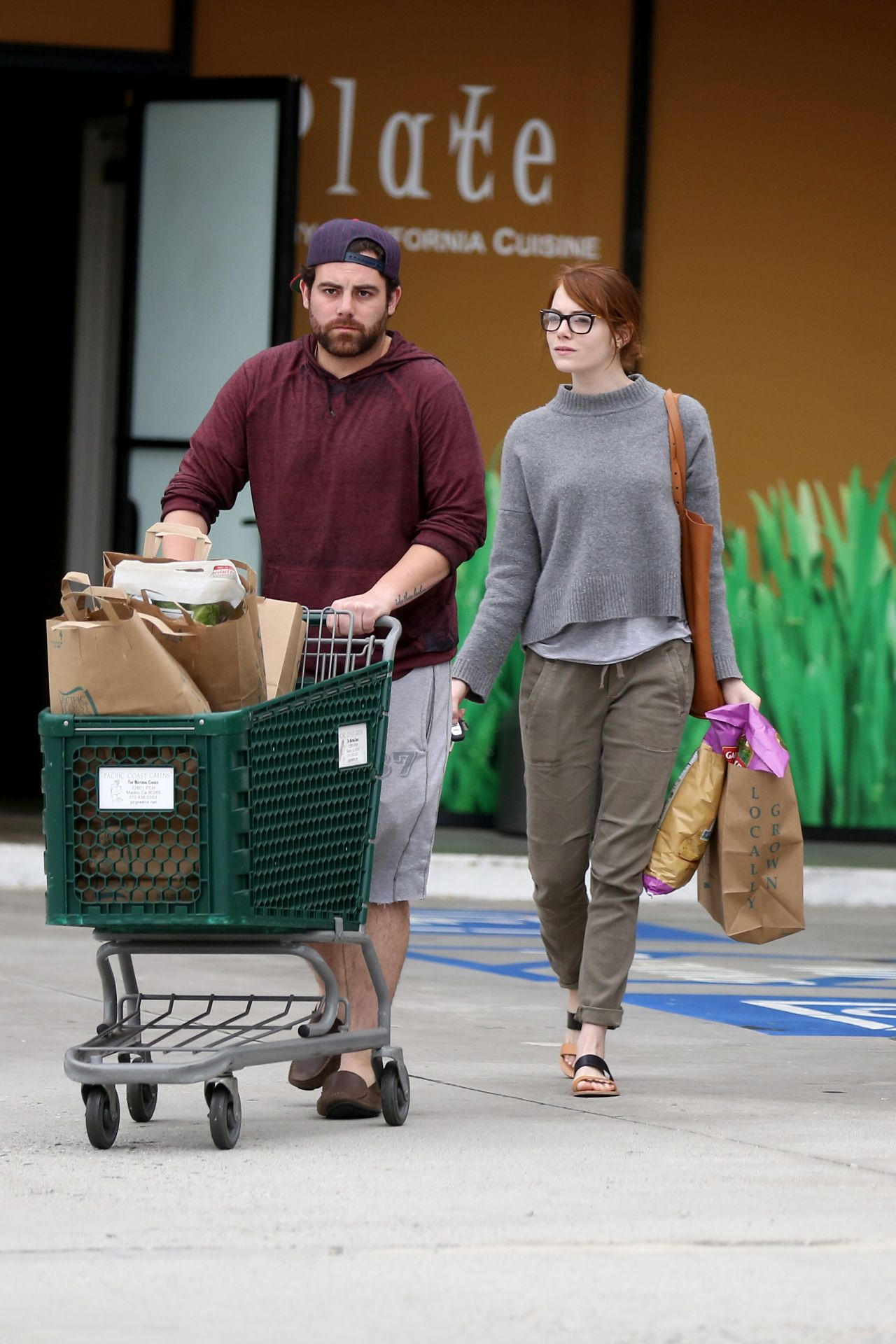 Emma Stone Grocery Shopping In Malibu March 2015