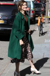 Emmy Rossum - Arrives at ABC Studios in NYC to Appear on