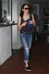 Emmy Rossum - at a Nail Salon in Beverly Hills, March 2015