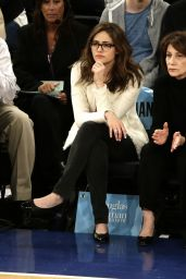 Emmy Rossum at a New York Knicks Game in New York City, March 2015