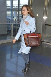 Emmy Rossum - at JFK Airport in NYC, March 2015