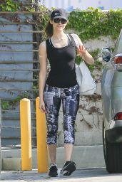 Emmy Rossum in Leggings at SoulCycle in Santa Monica, March 2015