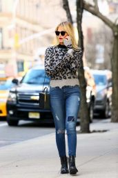 Erin Heatherton Street Fashion - Out in Soho in New York City, March 2015