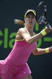 Eugenie Bouchard - 2015 Miami Open Tennis Tournament in Key Biscayne - 1st Round