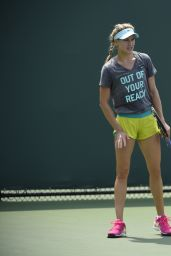 Eugenie Bouchard - Practice Session in Key Biscayne, March 2015