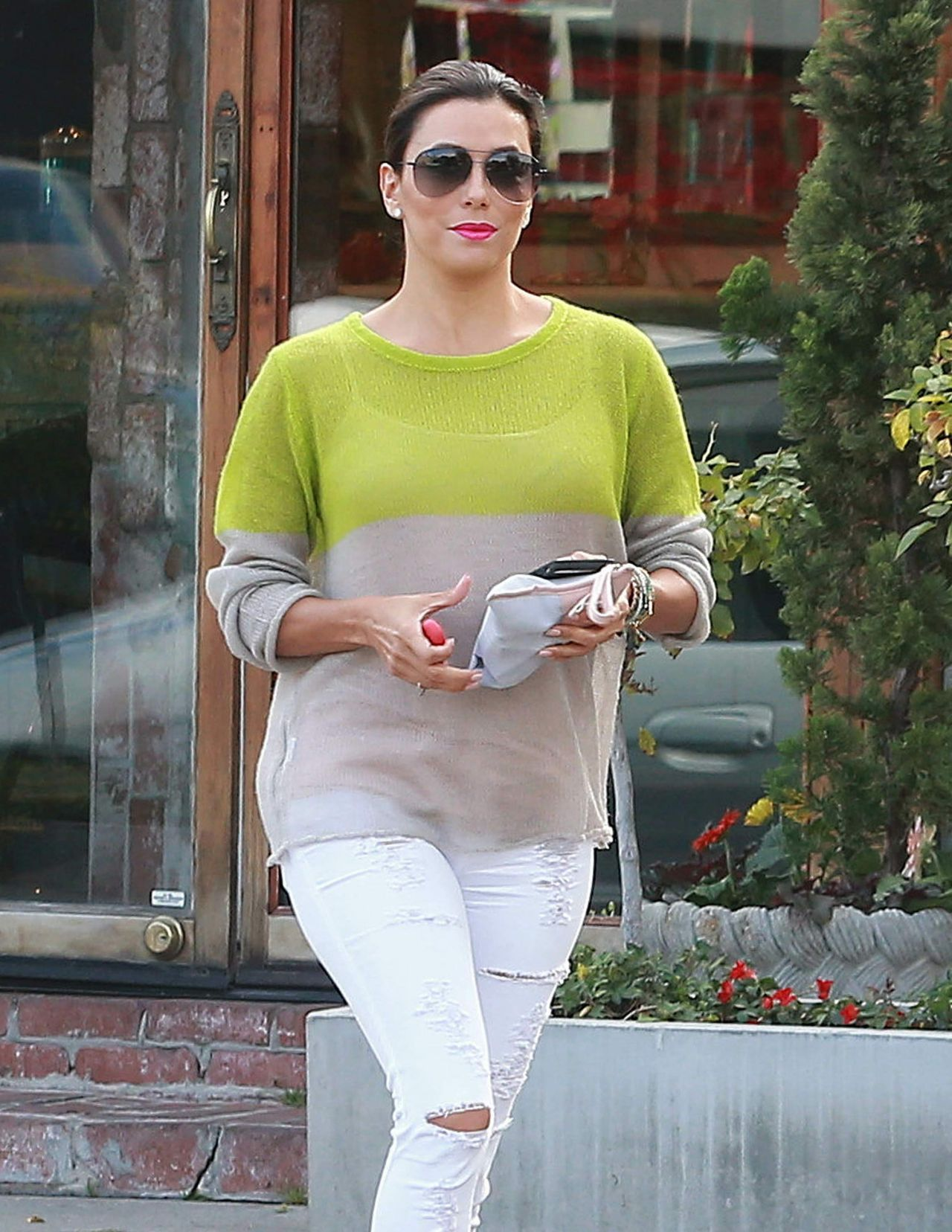 Eva Longoria Street Style - Leaving the Ken Paves Salon in West Hollywood, March 2015