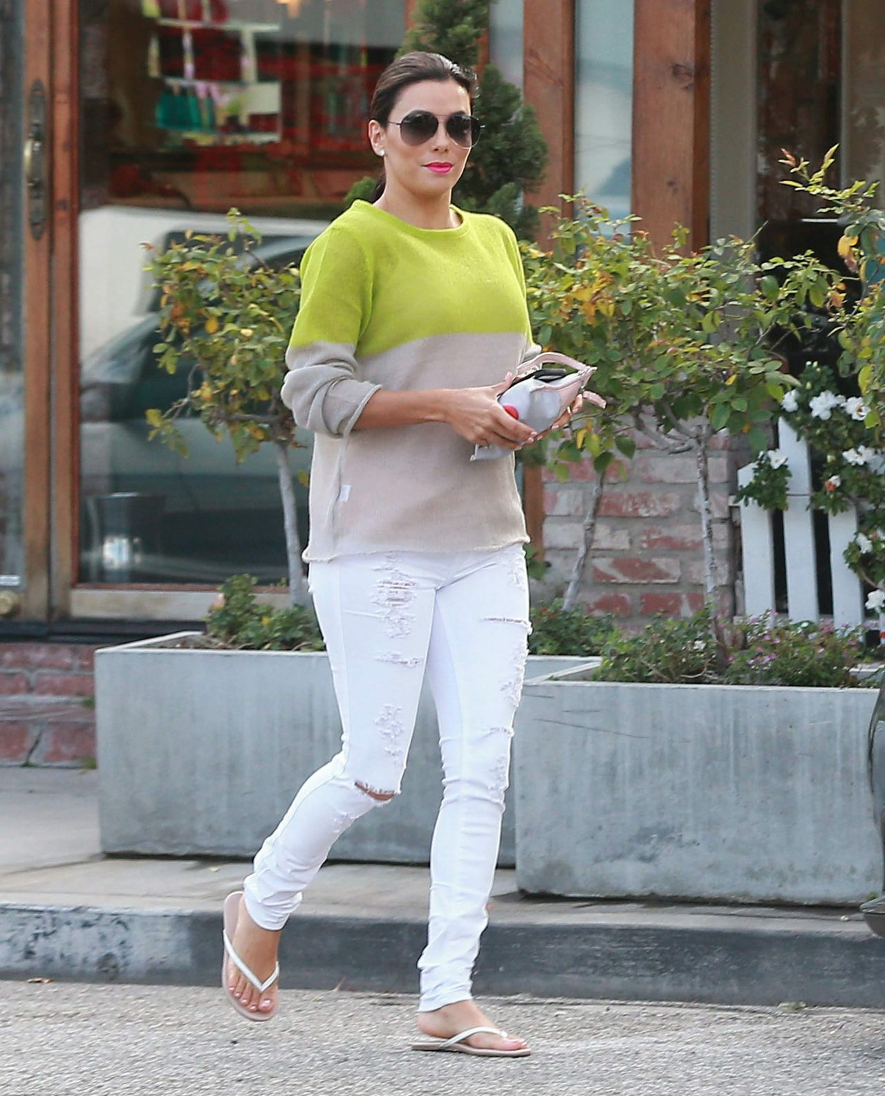 Eva Longoria Street Style Leaving The Ken Paves Salon In West Hollywood March 2015
