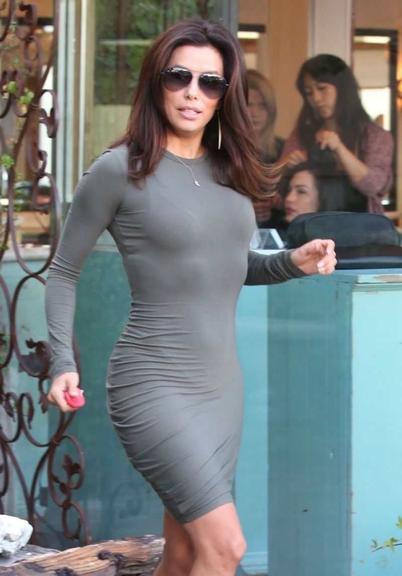 Eva Longoria Style - Out in West Hollywood, March 2015