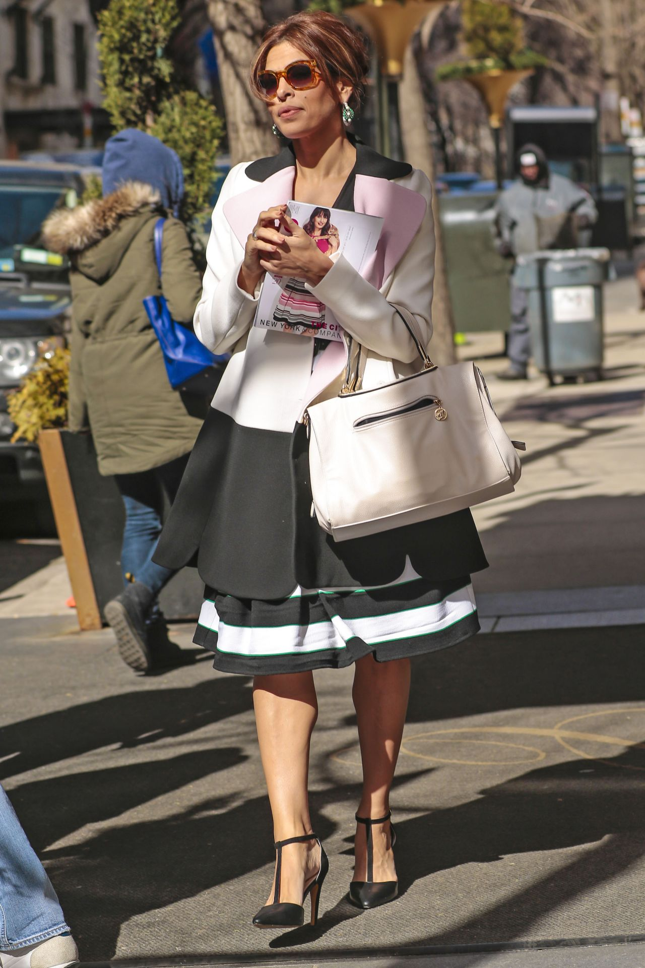 Eva Mendes Style - Out in NYC, March 2015