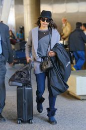 Freida Pinto Street Style - LAX Airport, March 2015